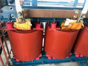 Substation Transformers after dry ice cleaning